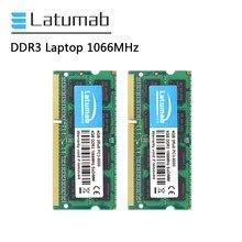 Latumab-memoria DDR3 para portátil, 4GB, 8GB de RAM, 1066MHz, PC3-8500 de memoria para PC, So Dimm, módulo de memoria para Notebook