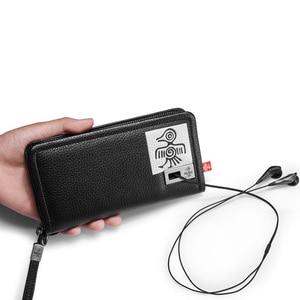 Image 5 - Orabird длинный женский кошелек, 100% натуральная кожа, сумка для денег, дневной клатч, сумки с отделением для карт, стандартные Модные женские кошельки для телефона