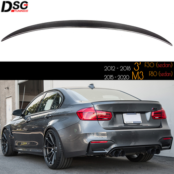M Style Genuine Carbon Fiber Rear Trunk Spoiler Car Wing for BMW 3 Series Sedan F30 (2012 - 2018) M3 F80 (2015 - 2020)