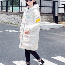 Модное детское пуховое пальто на осень зиму длинные для детей