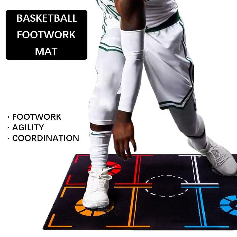 Профессиональный коврик для баскетбола, нескользящий коврик для тренировок по работе с ногами, коврик для баскетбола с управлением шарикам...