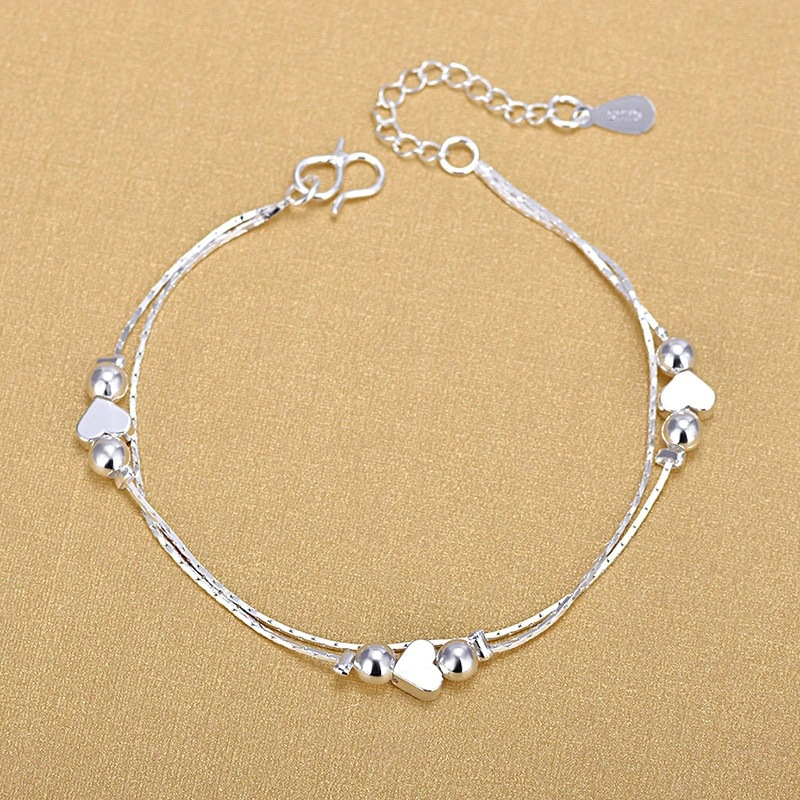 Silver Anklets 925 Fashion Silver Jewelry Chain Anklet for Women Girls Friend Foot Barefoot Sandals Beach Leg Jewelry Gift