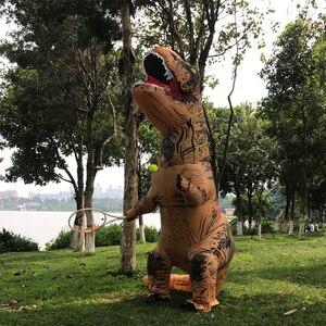 Image 4 - Costume T Rex pour femme et homme adulte, Costume de dinosaure gonflable, Costume de Cosplay Anime, fantaisie dhalloween T Rex, pour enfants, femmes