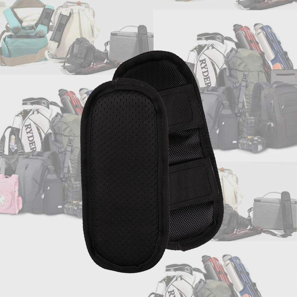 1 пара Черная мягкая прочная оксфордская ткань анти шок не крюк с карабином и петлей крепежа Наплечные колодки демонтировать рюкзаки подушки