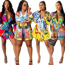 Африканские платья для женщин Дашики рубашка платье с длинным