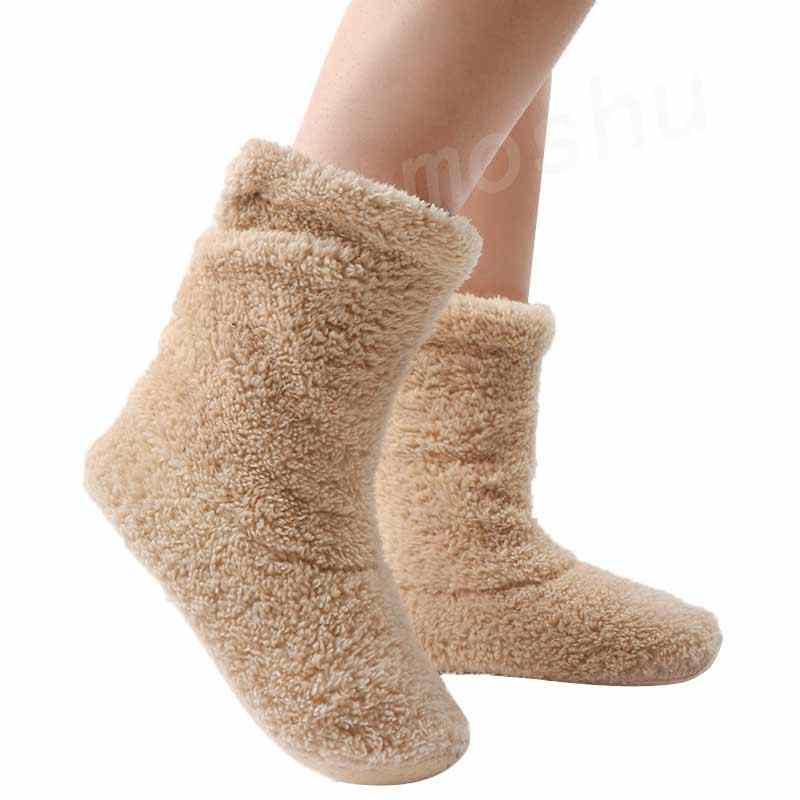 Ev terlik kadın kürk slaytlar kış sıcak kürklü terlik mercan polar kapalı ev ayakkabıları çorap kat ayakkabı Zapatos De Mujer