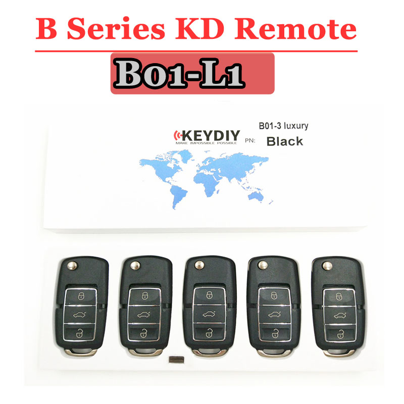 Free Shipping (5 Pcs/lot)KD900 Remote Key B01 Luxury  3 Button B Series Remote Control For URG200/KD900/KD900+ Machine