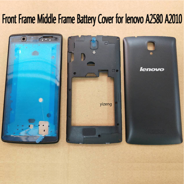 Housing For Lenovo A2580 A2010 Front Frame Middle Frame Battery Door Back Cover Without Power Volume Buttons