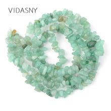 Natural Stone Beads Green Aventurine Irregular Chip For Jewelry Making 3-5-8-12mm Spacer Diy Necklace Bracelet 16