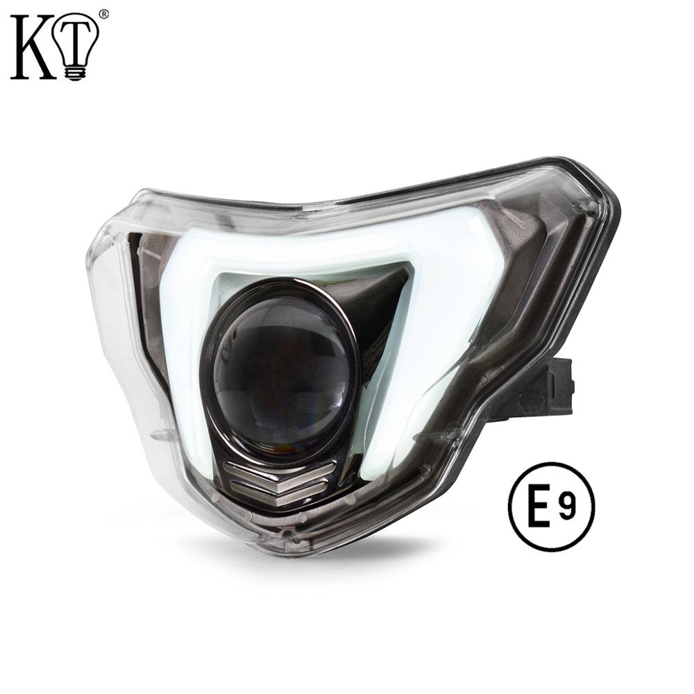 Black LED Headlight with Angel Eye Assembly Headlamp Replace Fit For BMW G310GS