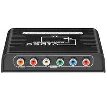 5 RCA Ypbpr komponent na HDMI konwerter kabel komponent wideo na hdmi konwerter wideo audio adapter na ps2 wii i więcej