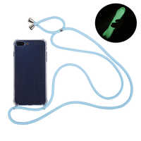 Necklace Phone Case With Strap cord for iphone 11 pro xs max Transparent Soft TPU Case For Samsung Galaxy S20 Ultra S9 S10 plus