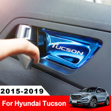 Накладка на внутреннюю дверь автомобиля из нержавеющей стали для hyundai Tucson аксессуары