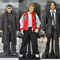 KUMIK 1:6 Scale The Professional Jean Reno Full Set Action Figure Model Toys for Collection