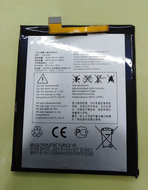 НОВЫЙ 4000 мА/ч, TLp038B1 Замена Батарея для Alcatel One Touch 5090Y 7071D 7071DX XL A7 LTE Две сим карты, TD-LTE батареи сотового телефона
