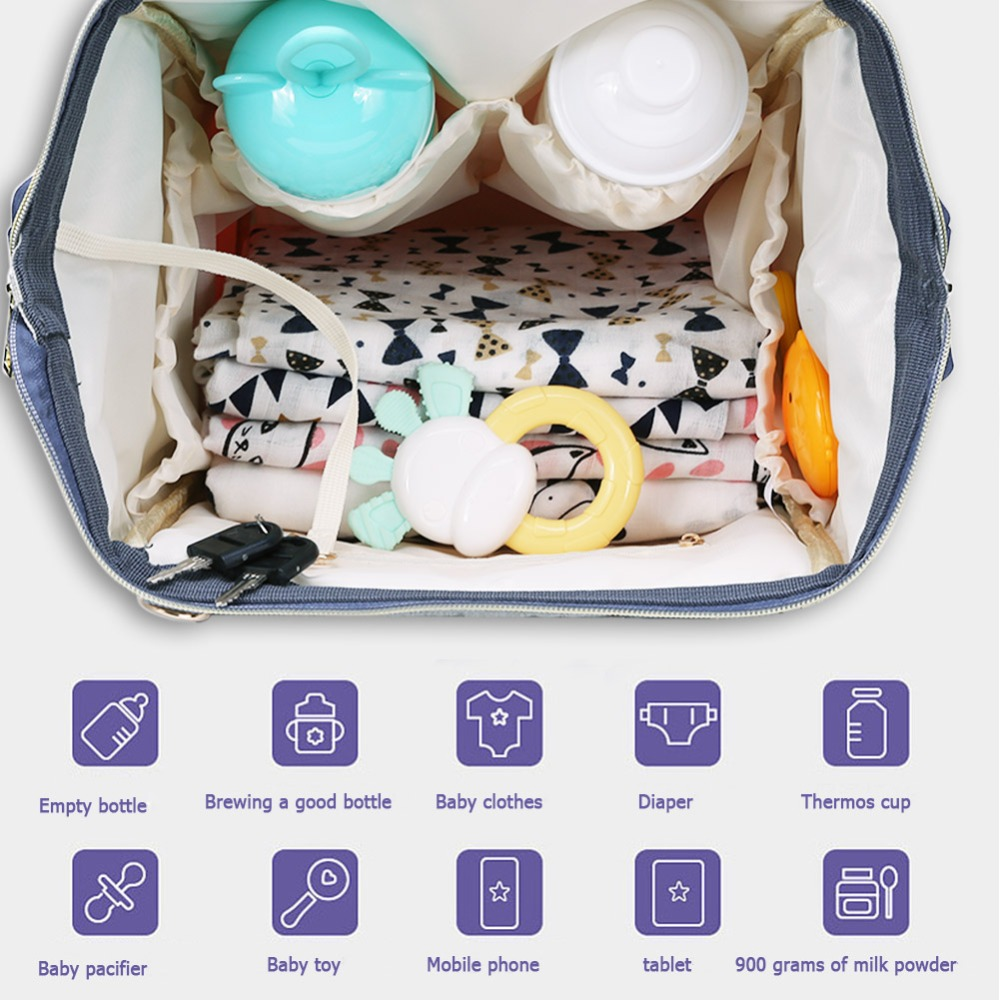 H9064a99c32534c29ac664f28fa4cd7920 LEQUEEN Fashion USB Mummy Maternity Diaper Bag Large Nursing Travel Backpack Designer Stroller Baby Bag Baby Care Nappy Backpack
