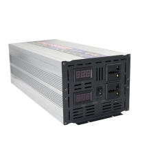 Peak 6000W OFF Grid Inverter Pure Sine Wave DC 12V/24V to AC 220V Power Inverter Converter Dual Digital Display for Solar System цена и фото