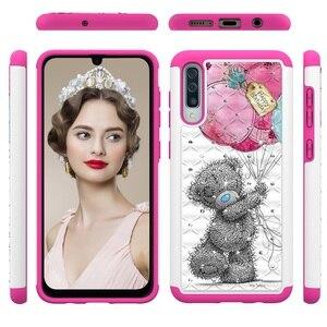 Image 3 - Paillettes Diamant Téléphone étui pour samsung Galaxy A30 A50 A20 A20e A10e Note10 Note Pro 10 PC TPU Hybride Bling Strass Housse