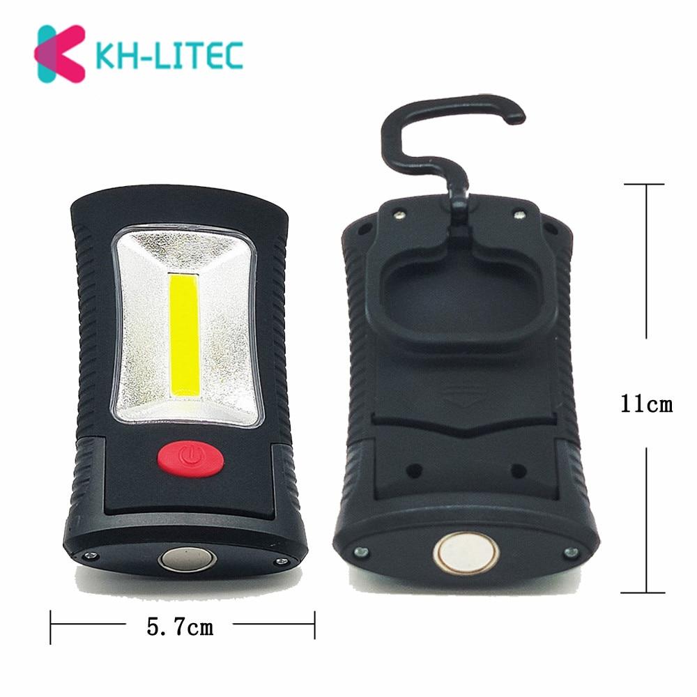 KHLITEC-Multifunctional-Portable-COB-LED-Magnetic-Folding-Hook-Working-Inspection-light-Flashlight-torch-Lanterna-lamp-USE-3xAAA(2)