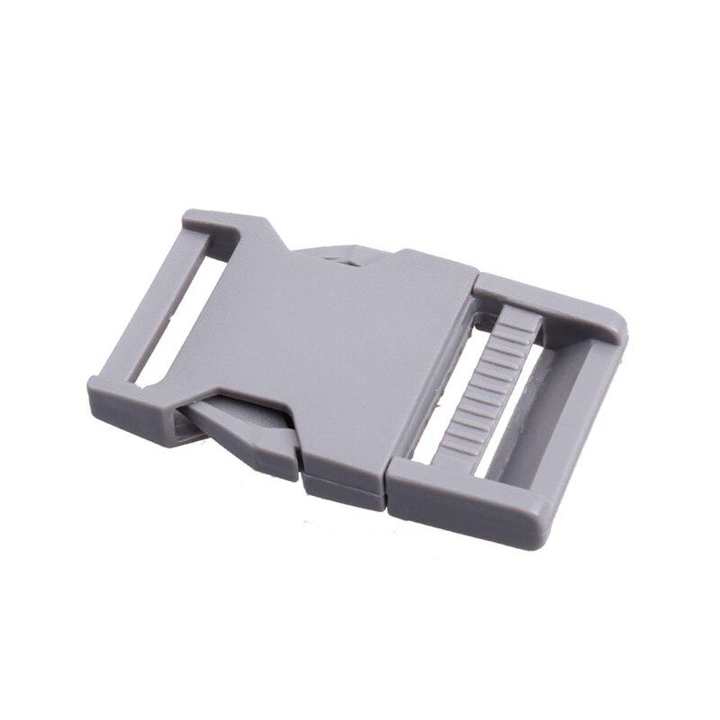 2 шт 25 мм Красочные пряжки ABS застежки для Паракорда браслет рюкзаки одежда сумки запчасти - Цвет: Grey