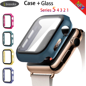 Tempered Case+glass For Apple