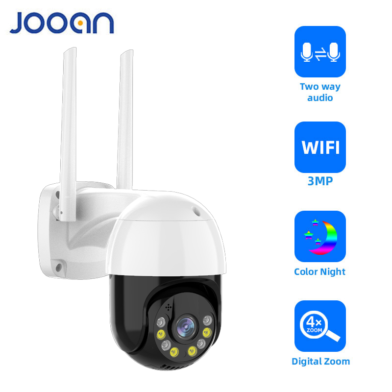 3MP PTZ WIFI IP מצלמה חיצוני 4X דיגיטלי זום לילה מלא צבע אלחוטי H.265 P2P אבטחת CCTV המצלמה שתי דרך לדבר אודיו