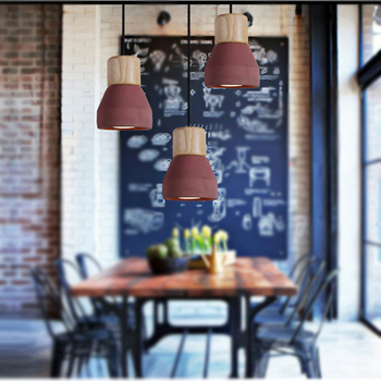 JAXLONG Nordic Modern Creative Pendant Light DiningRoom lustre hanglamp Bedside Colorful Cement Solid Wood Cafe Bar pendant lamp