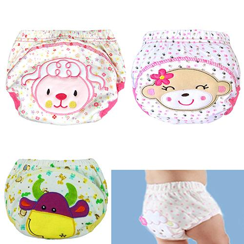 Kids  Pants Boys Girls Reusable Washable Nappy Diaper 1-3 years