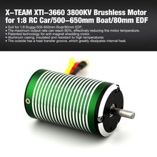 2019 1Pcs X-TEAM XTI-3660 3800KV 5mm Brushless Sensorless Motor for 1:8 RC Car Buggy/500-650mm RC Boat Ship/80mm EDF Parts
