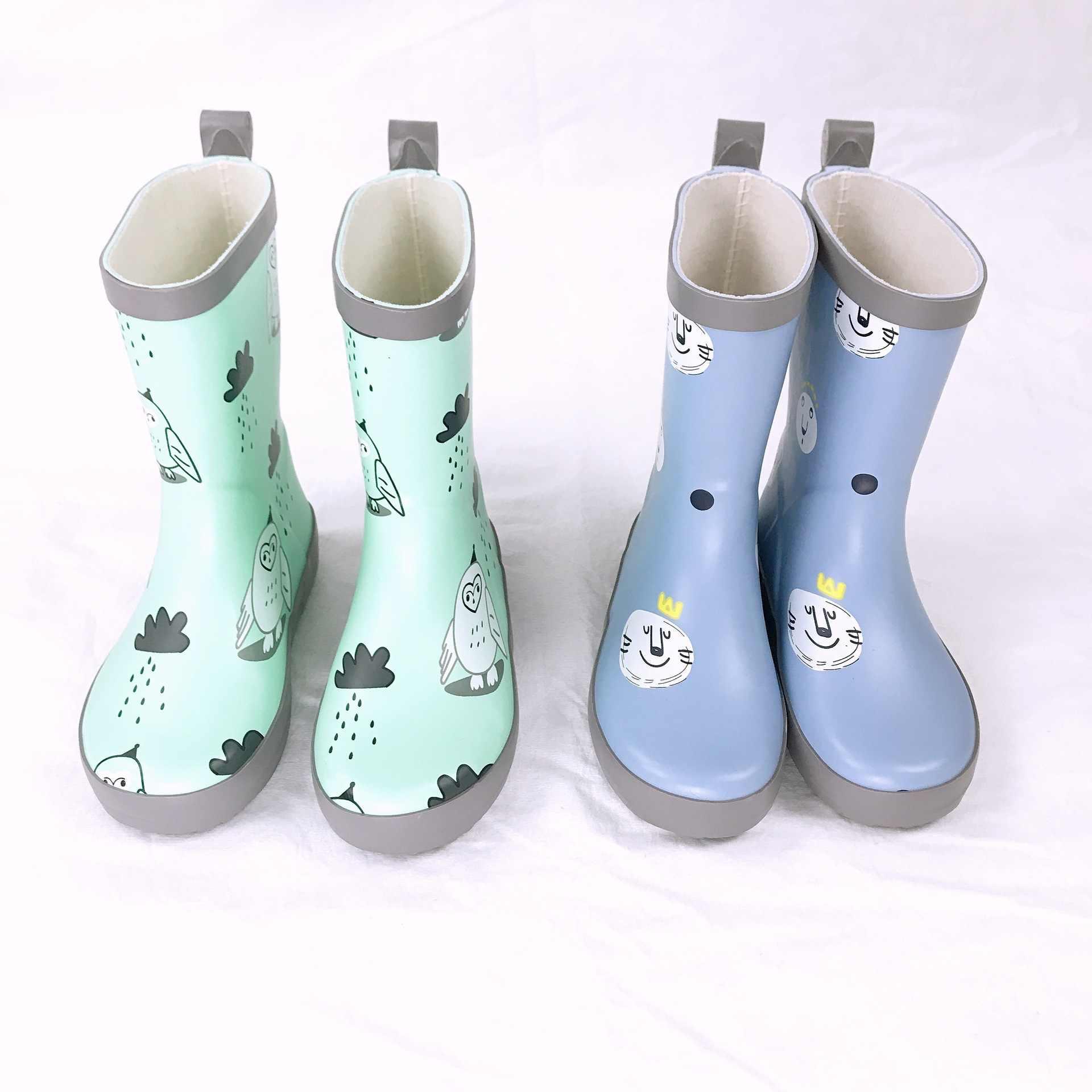 Celveroso/непромокаемые сапоги для девочек; милые детские резиновые сапоги с рисунком; Kalosze Dla Dzieci; Водонепроницаемая детская обувь