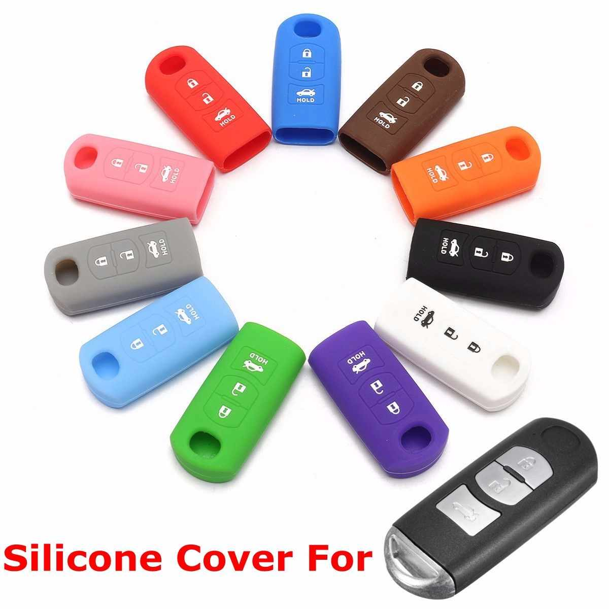 2 3 Buttons Key FOB Remote Car Key Case Shell Cover Holder For MAZDA 3 6 CX-5 CX-7