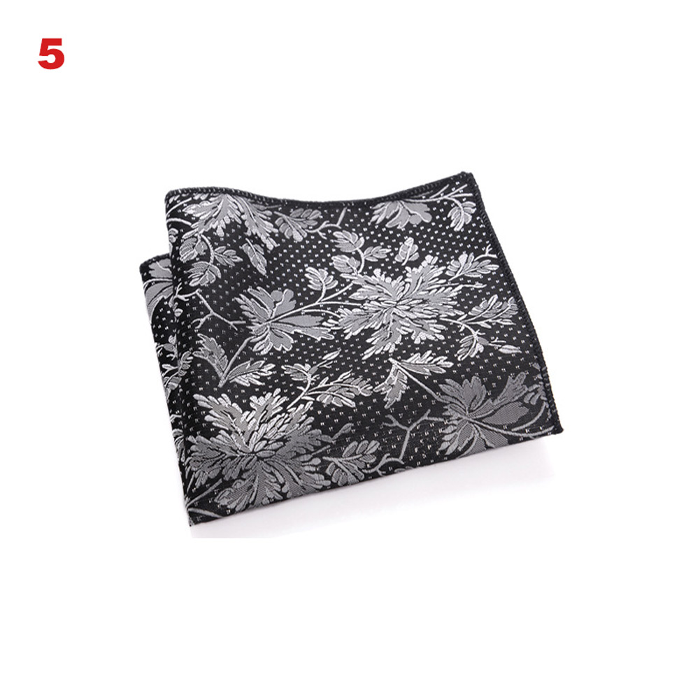 Newly Vintage Men British Design Floral Print Pocket Square Handkerchief Chest Towel Suit Accessories FIF66