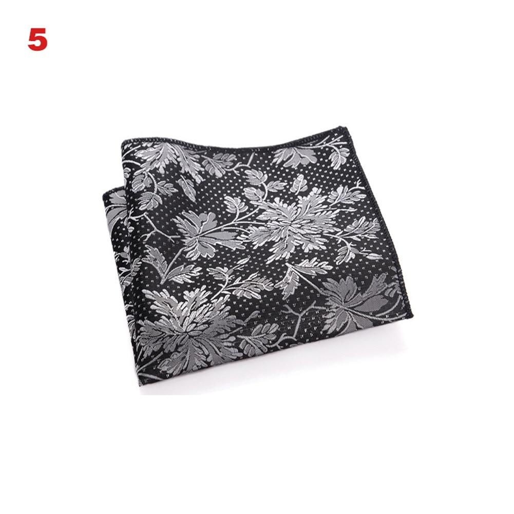 Newly Vintage Men British Design Floral Print Pocket Square Handkerchief Chest Towel Suit Accessories FIF66