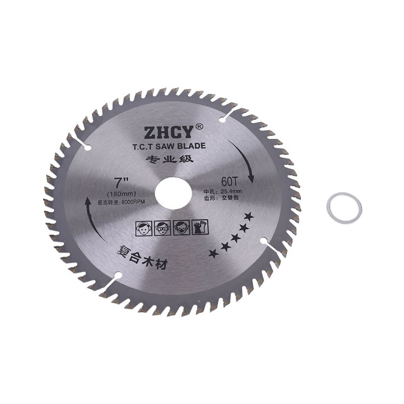 180mm 60 Teeth Circular Saw Blade Woodworking Cut Disc Super Thin Metal Cutter 40JE