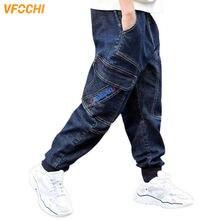 Джинсы для мальчиков vfochi новинка 2020 темно синие джинсовые