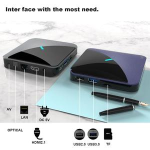 Image 3 - A95X F3 אנדרואיד 9.0 טלוויזיה תיבת RGB אור טלוויזיה תיבת 4GB 64GB 32GB Amlogic S905X3 תיבת 2.4/5G wifi 8K Plex Media שרת חכם תיבה