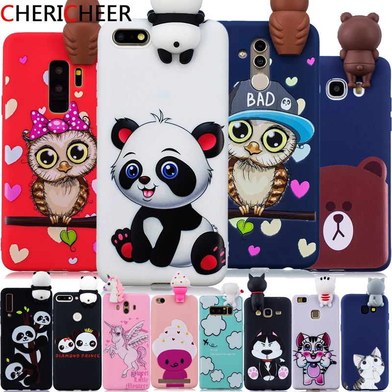 For Honor 7S <font><b>Case</b></font> For Honor 7A <font><b>Case</b></font> 5.45inch 3D Toys Panda Cat Cartoon <font><b>Case</b></font> For <font><b>Huawei</b></font> <font><b>Y5</b></font> <font><b>2018</b></font> <font><b>Case</b></font> <font><b>Y5</b></font> Prime <font><b>2018</b></font> Silicone Cover image