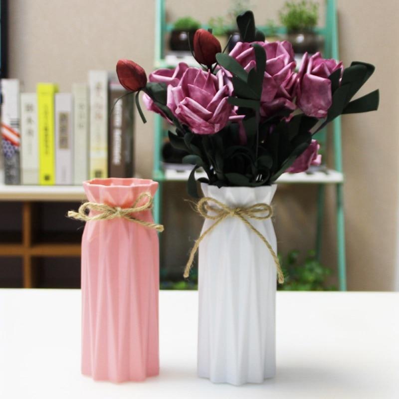 USA Simulation Ceramic Vase Origami Shape Vase Flower Arrangement Container