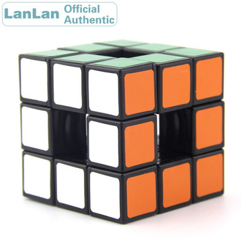 цена на LanLan Hollow 3x3x3 Magic Cube 3x3 Professional Speed Puzzle Brain Teasers Antistress Educational Toys For Children