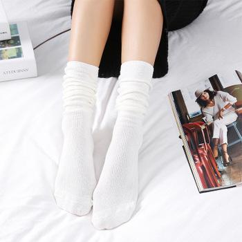 Moda moda nowa moda jednolity kolor wysokie rurki bawełniane skarpetki damskie tanie i dobre opinie CN (pochodzenie) COTTON Stałe STANDARD