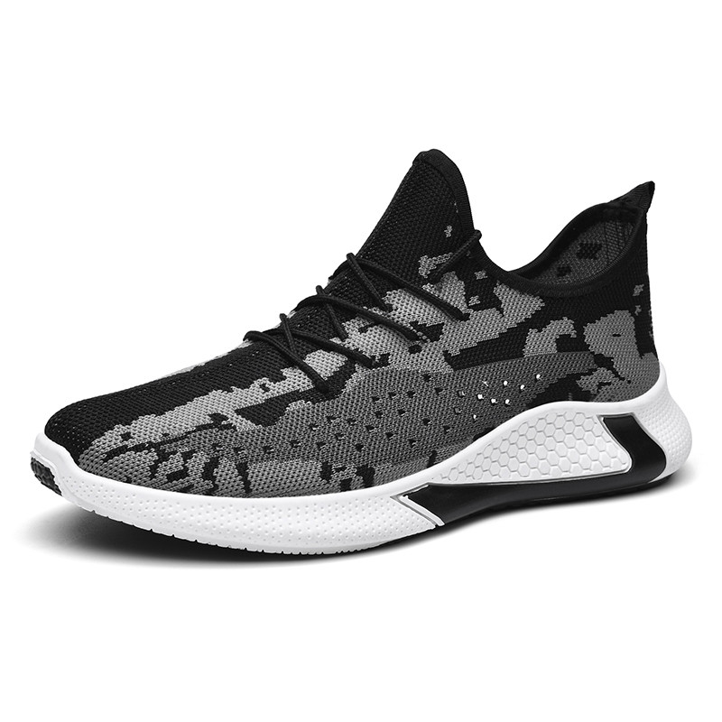 Men Flying Weaving Sports Running Shoes Wild Fashion Casual Shoes Zapatillas Hombre Lightweight Comfortable Breathable Sneakers