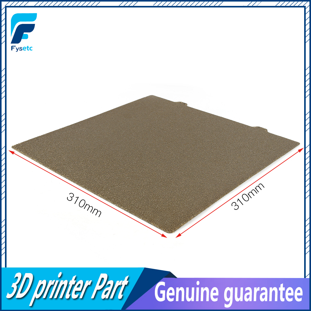 310x310mm Double Sided Textured PEI Spring Steel Sheet Powder Coated PEI Plate Build For Creality CR10 CR-10S CR10S 3D Printer