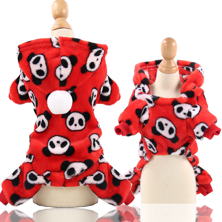 Dog Clothes Pajamas Jumpsuit Winter Pet Clothes Puppy Hoodies Fleece legs Warm Dog Clothing Outfit Small Dog Costume Apparel 20