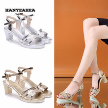 Brand New Sandalias De Verano Para Mujer Mature Retro High Heels Elegane Fashion