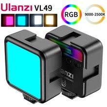 Ulanzi VL49 Full Mini RGB LED/2500K 9000K Từ Tính Lấp Đầy Ánh Sáng Kéo Dài 3 Lạnh giày 2000MAh Loại C Cho Vlog