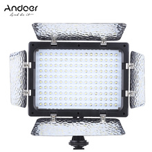 Andoer W160 Video Fotografie Licht Lampe Panel 6000K 160 LEDs für Canon Nikon Olympus Fujifilm DSLR Kamera DV Camcorder