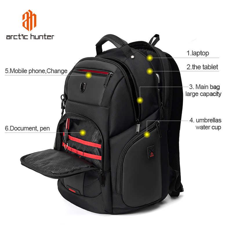 ARCTIC HUNTER wodoodporny plecak męski plecak na Laptop szkoła torba dla nastolatków plecak wielofunkcyjny podróży plecaki męskie