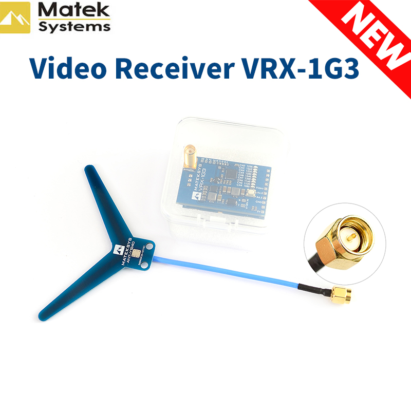 New MATEKSYS Video Receiver 1.2 1.3GHZ VRX-1G3 9CH FPV Video Receiver for RC Drone Goggles Monitor image