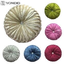 Okrągłe krzesło poduszka PP bawełna dynia poduszka na siedzenie na Patio Home Car Office poduszka podłogowa wkładka wypełnienie z pianki Memory poduszka Tatami
