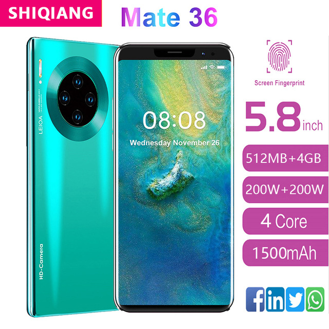 SOYES mate36 pro Mobile Phone Android Fingerprint Recognition 5.8inch 512M+ 4GB  New Camera Wifi Factory Phone 1